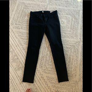 Rag and bone black skinny jeans size 32